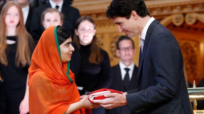 Malala and Justin
