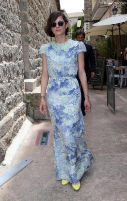 Marion Cotillard Erdem blue