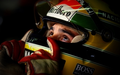 1990: Portrait of McLaren Honda driver Ayrton Senna of Brazil before the Japanese Grand Prix at the Suzuka circuit in Japan. Senna retired from the race after a collision with Fiat Ferrari driver Alain Prost of France. Mandatory Credit: Pascal Rondeau/Allsport