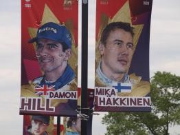 Damon Hill and Mika Hakkinen