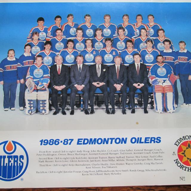 Oilers Edmonton 1986