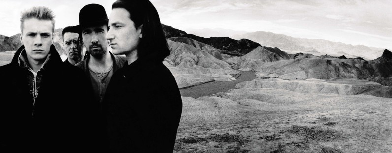 "U2, cover image for 1987's ""The Joshua Tree"": From left: Adam Clayton, Larry Mullen, The Edge, and Bono."
