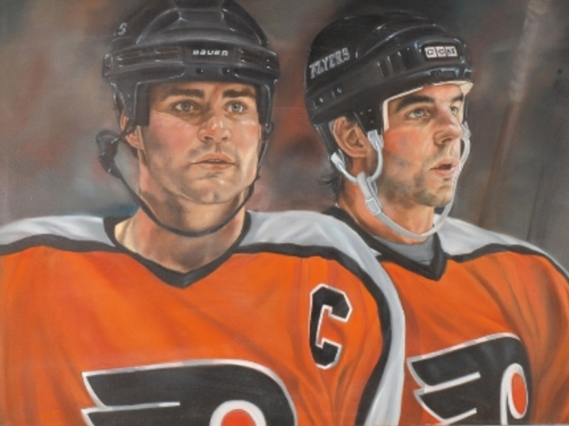Eric Lindros and John LeClair