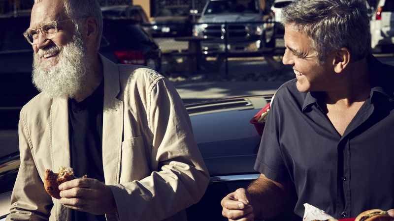 Letterman and Clooney