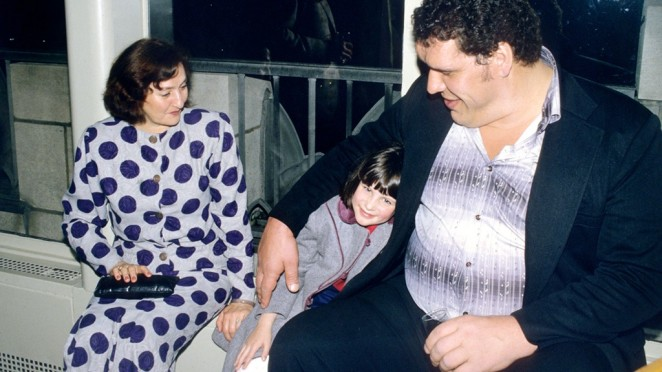 Andre the Giant and Stephanie McMahon