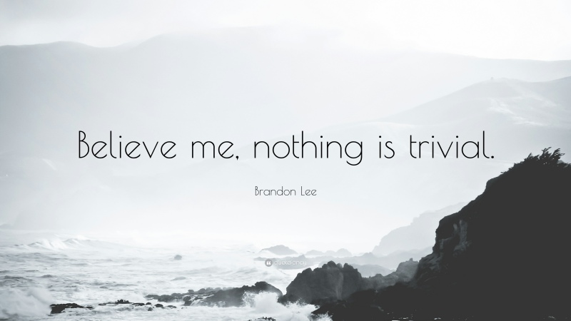 Brandon Lee quote