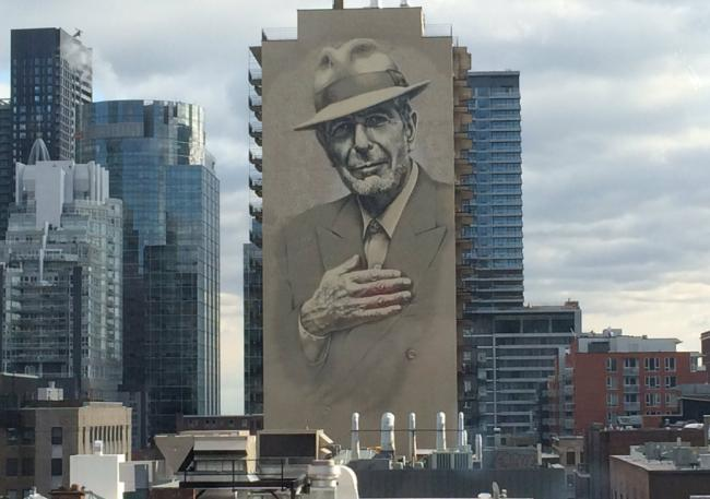 Leonard Cohen Montreal Mural