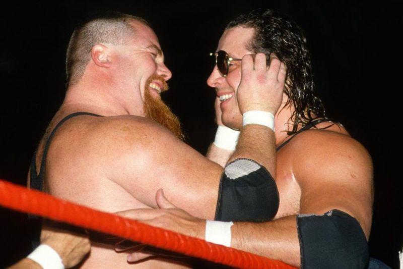 Jim Neidhart and Bret Hart