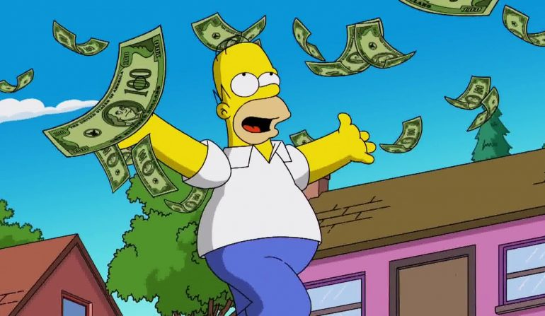 Homer Simpson money